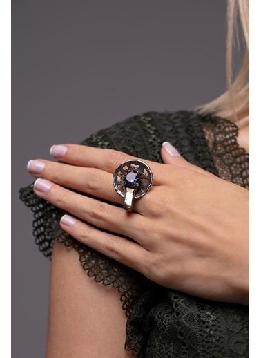 Ninova Silver Ninova Silver Mistik Topaz Taşlı El İşi Yüzük Renkli